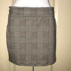 Stretch glen plaid mini skirt